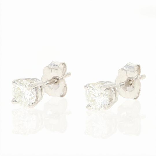 Other NEW Diamond Stud Earrings - 14k White Gold Pierced Round Cut U9146 Image 1