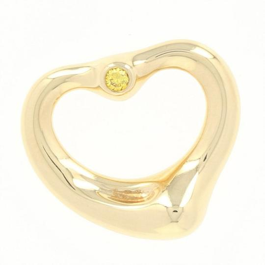 Tiffany & Co. Tiffany & Co. Open Heart Pendant -18k Yellow Gold Diamond Accent U9188 Image 2