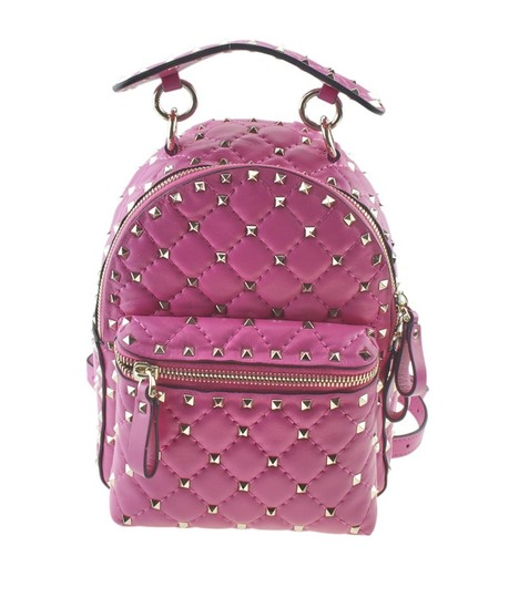 Preload https://img-static.tradesy.com/item/25140932/valentino-pink-rockstud-spike-leather-backpack-168402-0-0-540-540.jpg