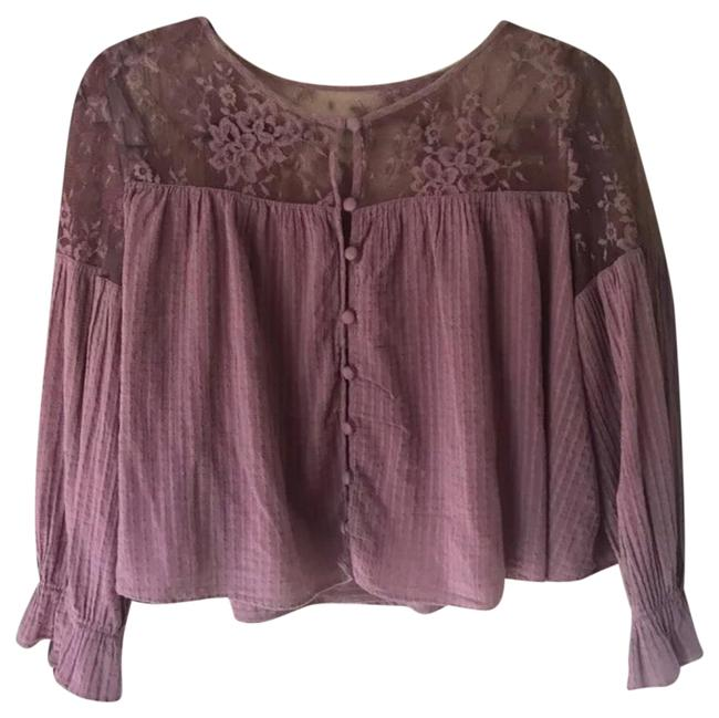 Preload https://img-static.tradesy.com/item/25140949/free-people-mauve-lace-button-blouse-size-4-s-0-1-650-650.jpg