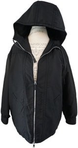 Prada Designer Windbreaker Hooded Windbreaker Black Jacket