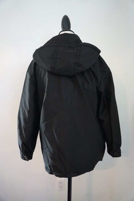 Prada Designer Windbreaker Hooded Windbreaker Black Jacket Image 1