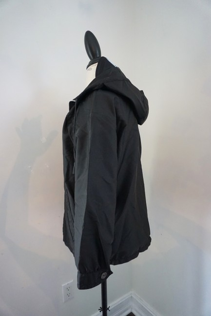Prada Designer Windbreaker Hooded Windbreaker Black Jacket Image 2