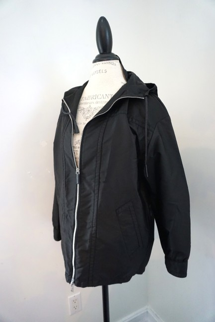 Prada Designer Windbreaker Hooded Windbreaker Black Jacket Image 3