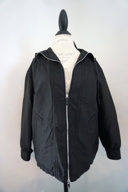 Prada Designer Windbreaker Hooded Windbreaker Black Jacket Image 4