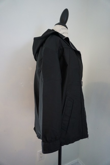 Prada Designer Windbreaker Hooded Windbreaker Black Jacket Image 5