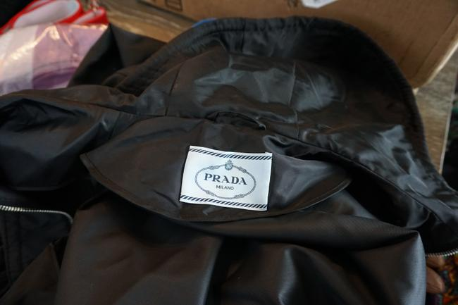 Prada Designer Windbreaker Hooded Windbreaker Black Jacket Image 6