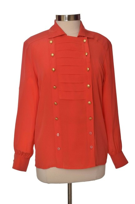 Preload https://img-static.tradesy.com/item/25141032/escada-orange-vintage-long-sleeve-silk-button-down-top-size-6-s-0-0-650-650.jpg