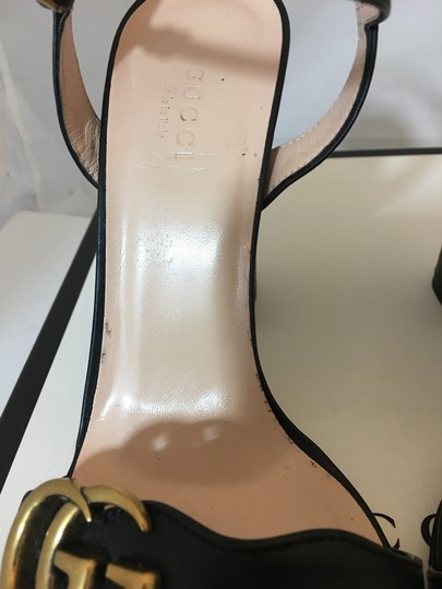 Gucci Marmont Gold Gg Black Sandals Image 10