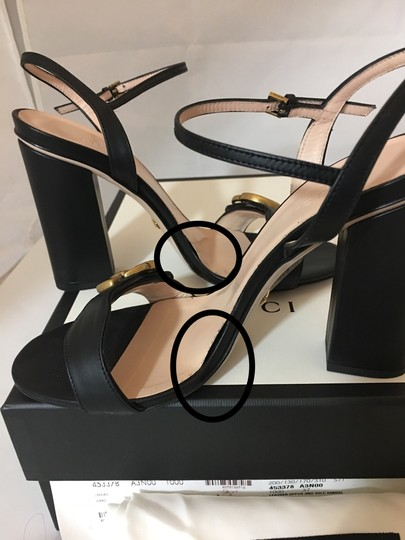 Gucci Marmont Gold Gg Black Sandals Image 11