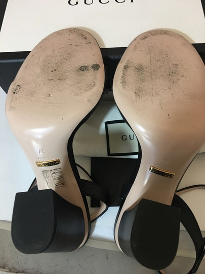 Gucci Marmont Gold Gg Black Sandals Image 4