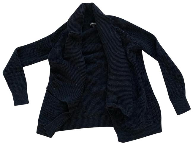 Preload https://img-static.tradesy.com/item/25141081/express-black-knit-well-loved-cardigan-size-8-m-0-1-650-650.jpg