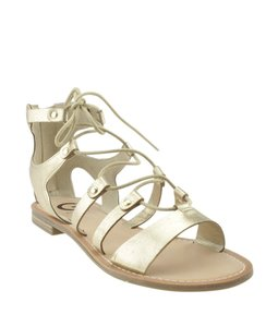 Guess Leather Gold Sandals