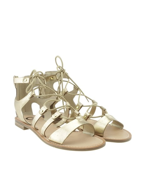 Guess Leather Gold Sandals Image 1