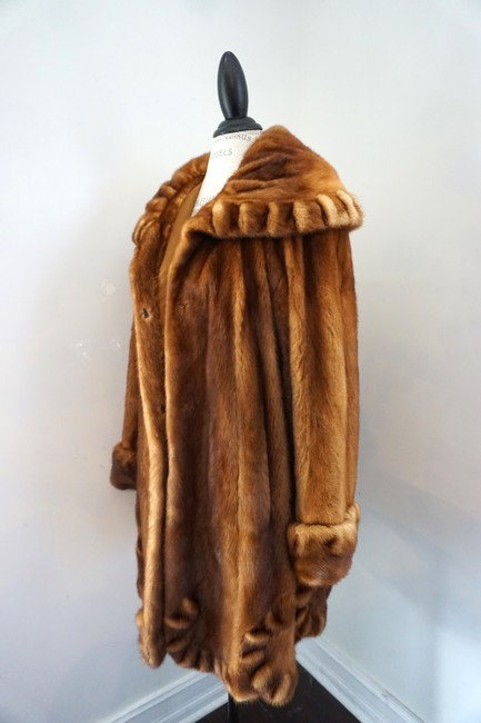 DASCO Mink Sable Mink Hooded Mink Swing Directional Mink Fur Coat Image 3