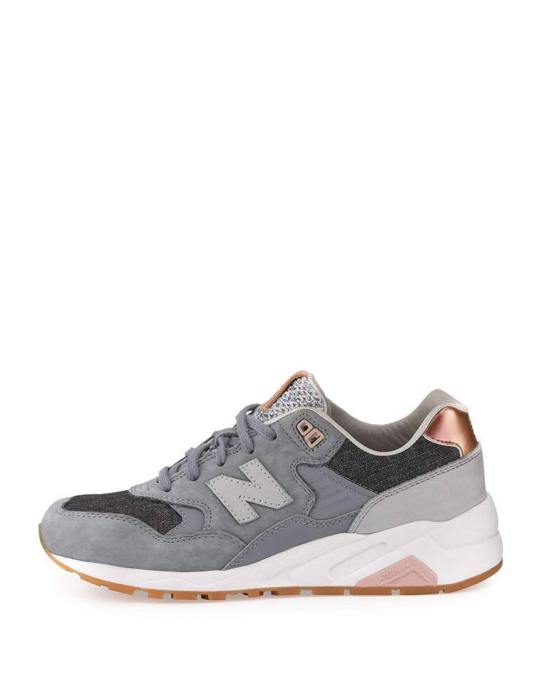 quality design 0fdf3 74145 New Balance Gray 580 Suede Low-top Sneakers Size US 8 Regular (M, B) 59%  off retail