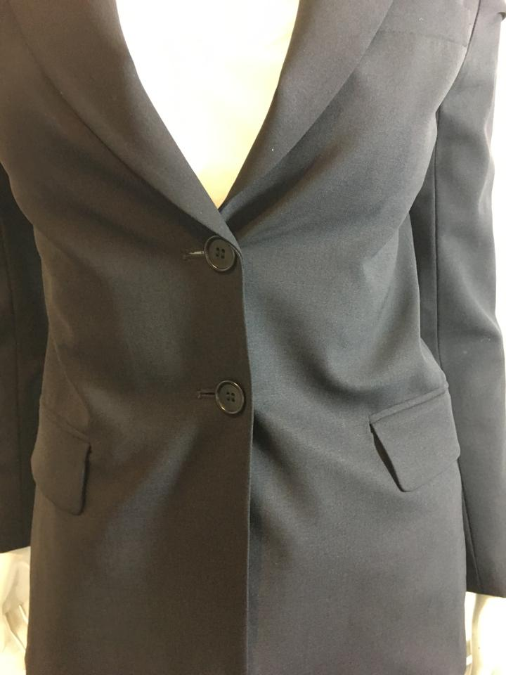 c93df31f3ad3 Theory Navy 129219 Blue 2 Button Wool Blend S/P Blazer Size 4 (S ...