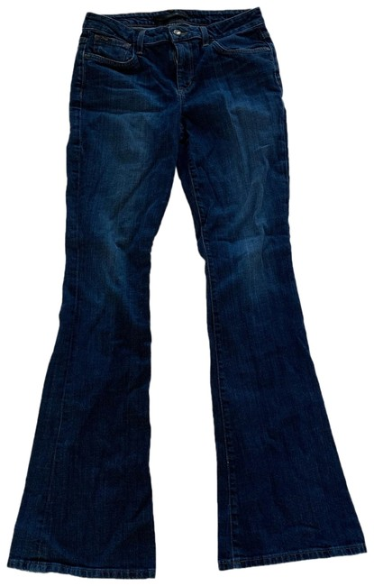 Item - Blue Dark Rinse Visionaire Like New Wash Flare Leg Jeans Size 6 (S, 28)