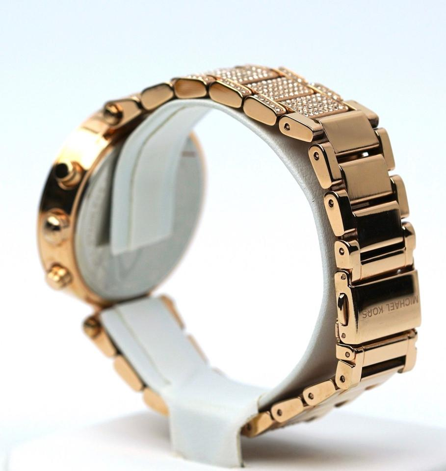 97f16638604d Michael Kors Parker Stainless Pave Mother of Pearl Dial Chronograph MK6514  Watch Image 9. 12345678910