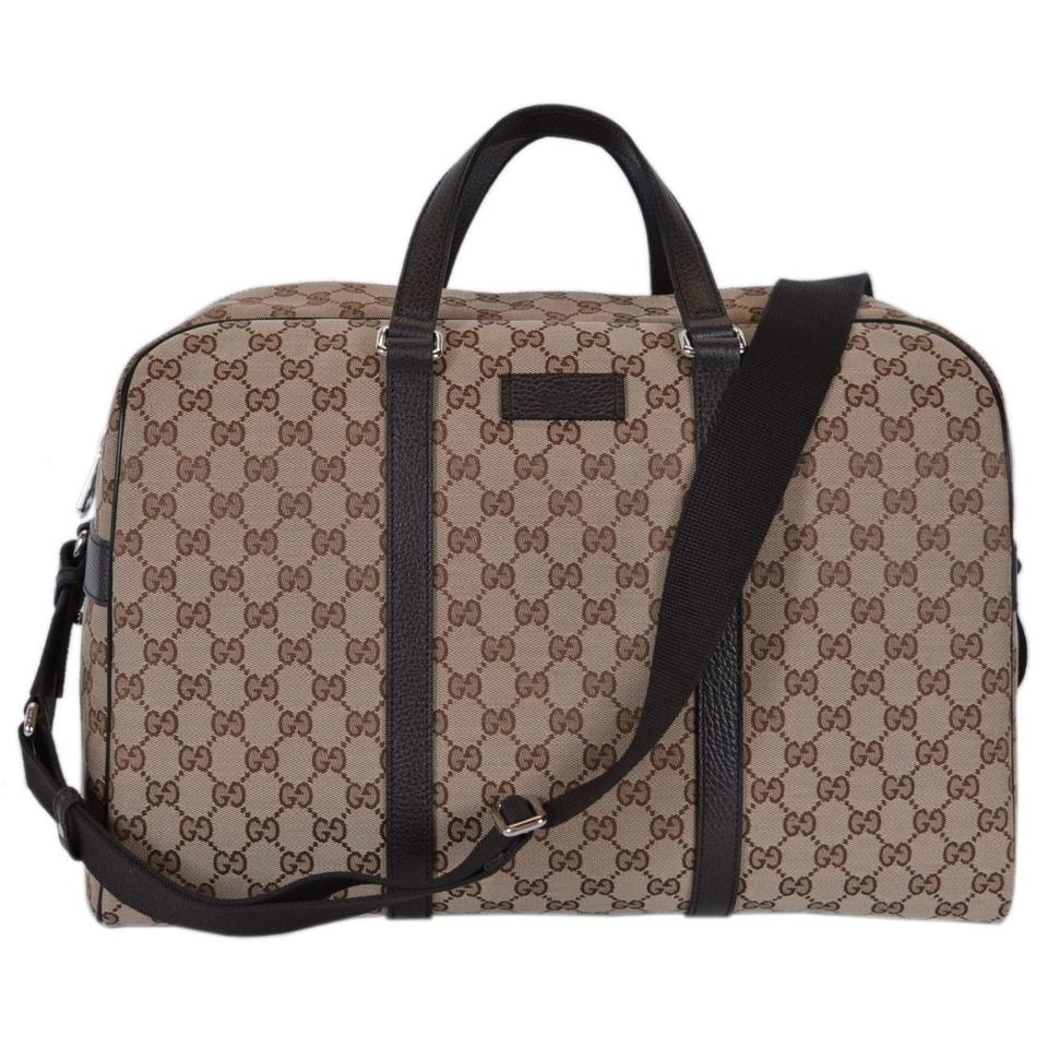 47cb446f3417 Gucci Guccissima Large Duffle Beige Canvas Weekend/Travel Bag - Tradesy