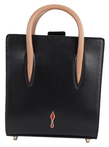 28805cbe3cd Christian Louboutin Calfskin Leather Smooth black red Clutch