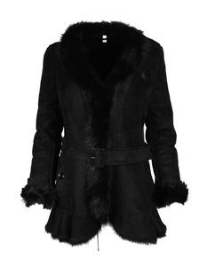 Burberry Shearling Belted Fur Coat
