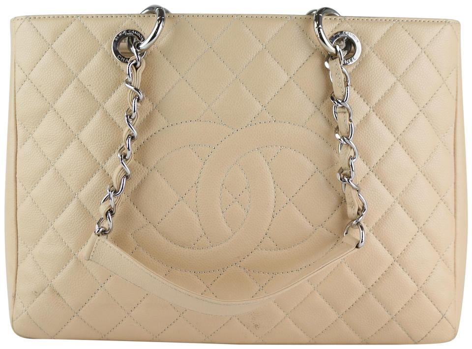 9d7bdad157cb Chanel Gst Grand Shopping Silver Hardware Gst Tote in Beige Image 0 ...