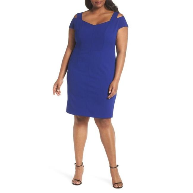 Eliza J Plus-size Cold Shoulder Sheath Dress Image 5
