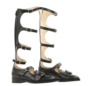 Gucci Dionysus Gladiator 452899 Black Boots