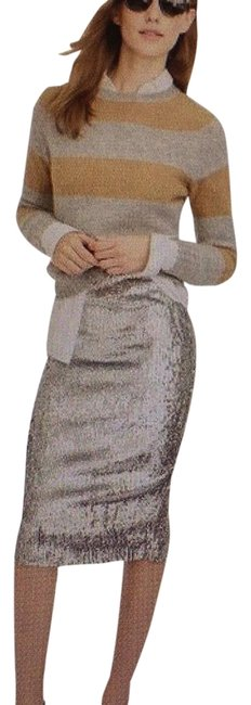 Item - Silver Sequin Skirt Size 14 (L, 34)