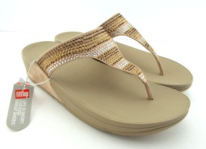 a3a61f2b8 FitFlop Strobe Luxe Lulu Gold Sandals
