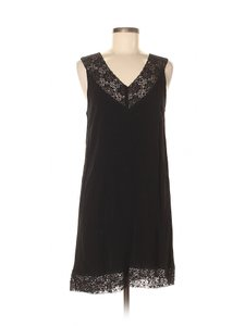 Black Swan short dress Black Lace Sundress Shift Sleeveless Crepe on Tradesy