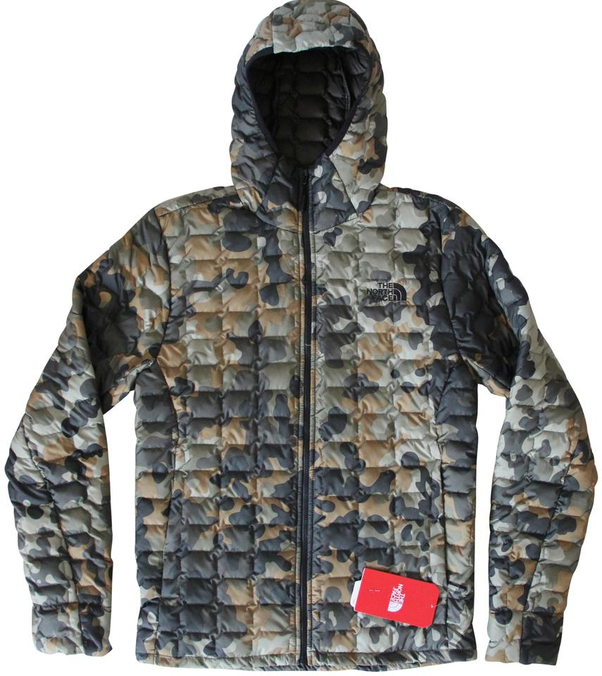 The North Face Multicolor Mens Thermoball Hooded Jacket Small Camouflage Activewear Size 6 S 36 Off Retail