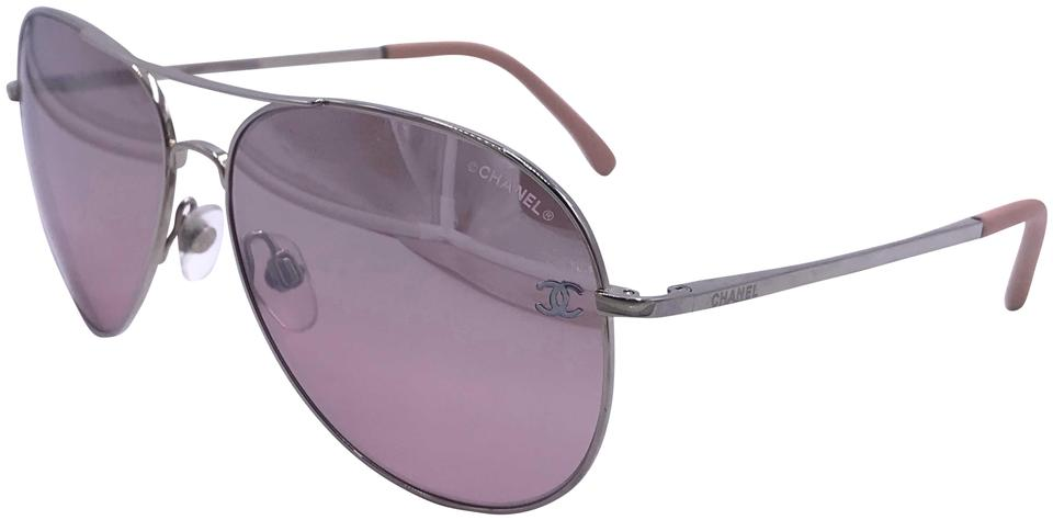 b884c20c7f3a Pink Chanel Sunglasses - Up to 70% off at Tradesy