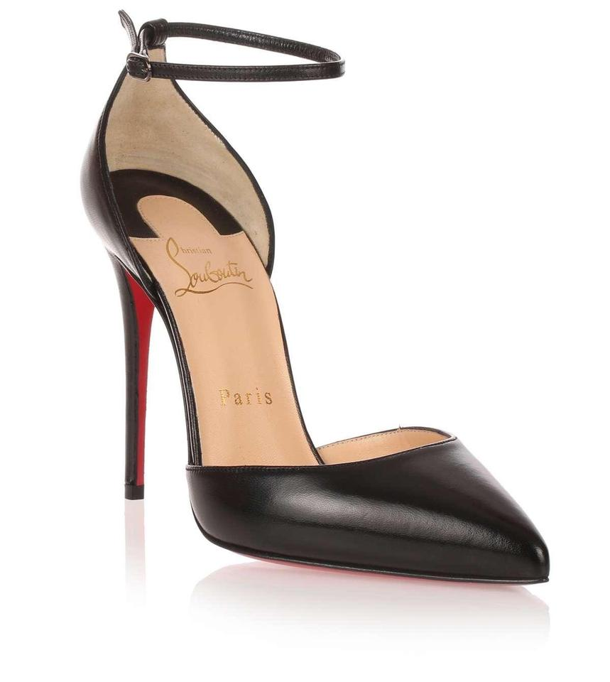 720536361264 Christian Louboutin Black Uptown D orsay Ankle Strap Pointy Toe 36 ...