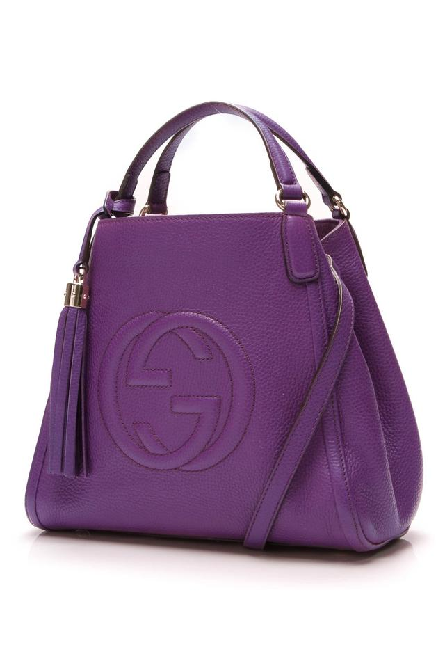 1ccf83d53d8 Gucci Soho Small Purple Leather Shoulder Bag - Tradesy