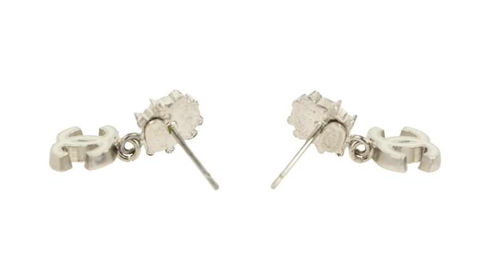 a8ef52955fd57d Chanel Silver Cc Ladybug Earrings - Tradesy