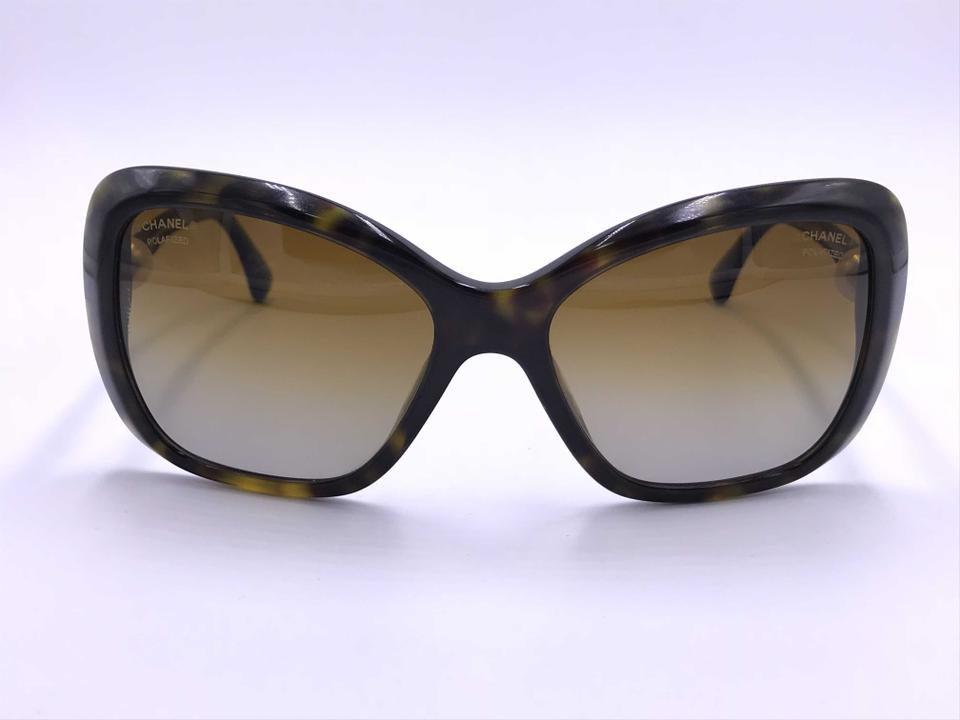 d5684057a554d Chanel Tortoise 5303-h C.714 S9 Brown Polarized  Pearls Butterfly Italy  Sunglasses - Tradesy