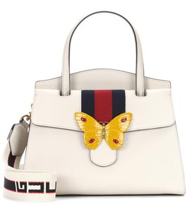Gucci Linea Totem Linea Totem Butterfly Satchel in White Convertible