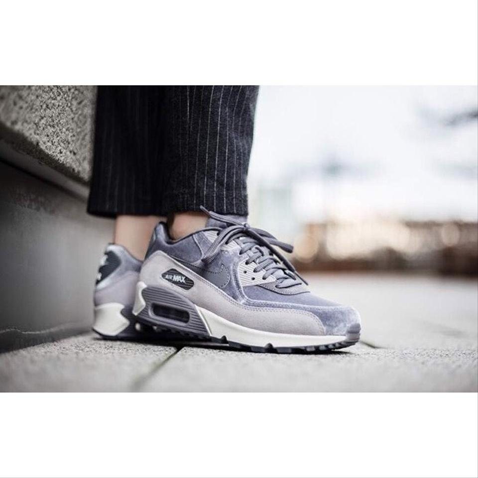 quality design 1a4bb 4a837 Nike Grey Women's Air Max 90 Lx Velvet Sneakers. A Retro Inspired Sneaker  Amped Up For Today with Suede Insets and Grooved Sneakers Size US 10.5 ...