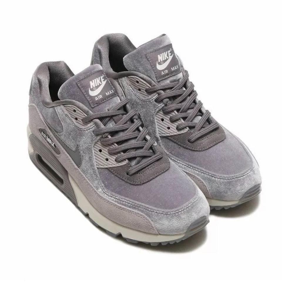 quality design fd29e b3922 Nike Grey Women's Air Max 90 Lx Velvet Sneakers. A Retro Inspired Sneaker  Amped Up For Today with Suede Insets and Grooved Sneakers Size US 10.5 ...
