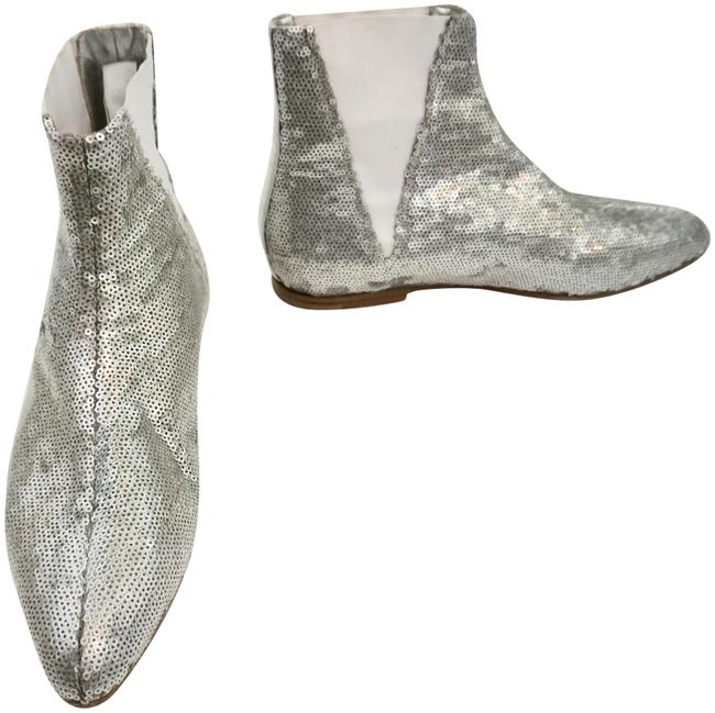 Item - Silver Sequin Ankle Boots/Booties Size EU 39.5 (Approx. US 9.5) Regular (M, B)