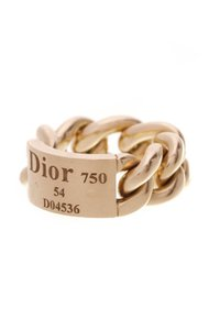 Dior Christian Dior Gourmette Chain Ring - Gold Size 6