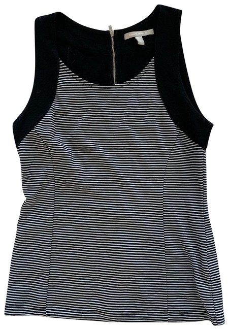 Item - Black and White Cropped Tank Like New Striped Blouse Size 2 (XS)