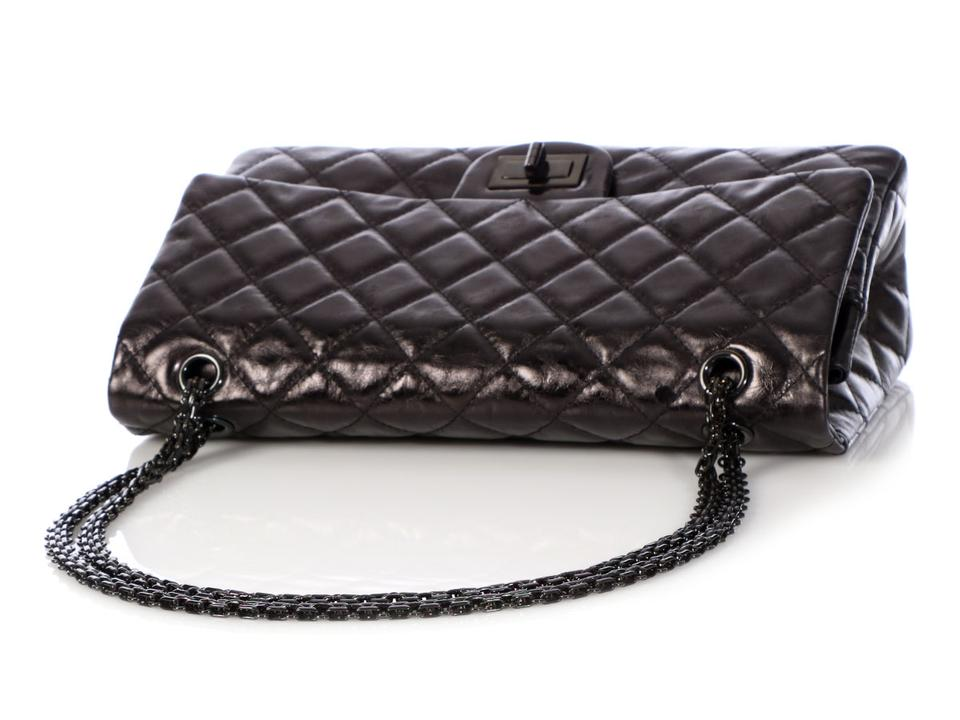6a0cab3ffa5191 Chanel 2.55 Reissue 227 Double Flap Quilted Aged So Black Calfskin ...