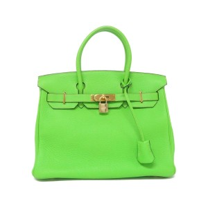 Hermès 30 Birkin Birkin Special Satchel in Apple Green