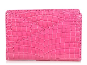 Bottega Veneta Bv.q0305.08 Rose Croc Reduced Price Pink Clutch