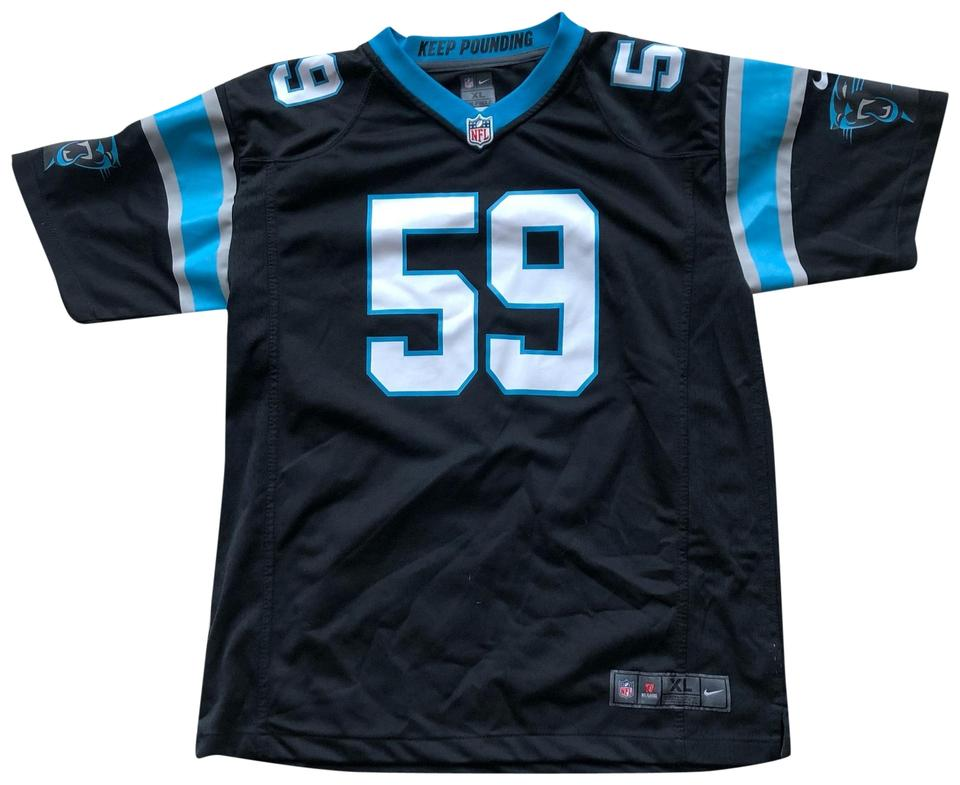 cheap for discount 52381 a7f15 Nike Black and Blue Panthers #59 Kuechly Tee Shirt Size 16 (XL, Plus 0x)  51% off retail