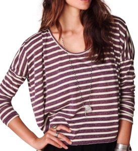 Free People Top Purple, Cream
