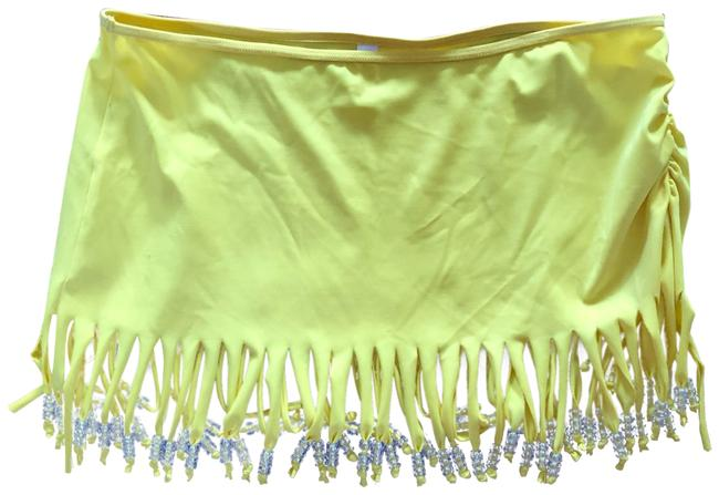 Item - Yellow Beaded Fringe Cover-up/Sarong Size 8 (M)